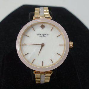 NEW KATE SPADE Rose Gold Tone Pink Acetate Watch